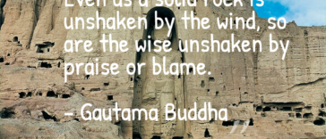 Even as a solid rock is unshaken by the wind - QuotesBogie