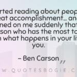 I started reading about people of great accomplishment - QuotesBogie