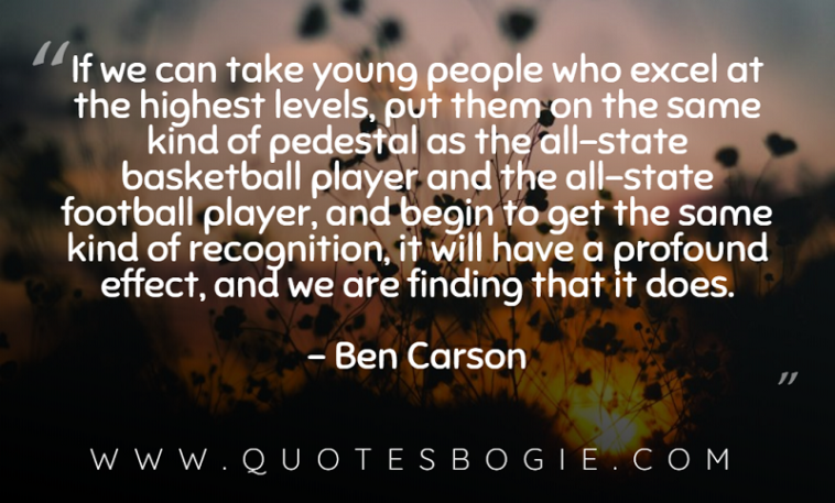 If we can take young people who excel at the highest levels - QuotesBogie